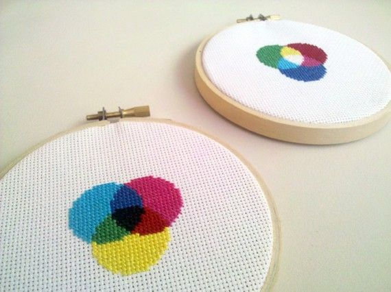 RGB Color Wheel Cross Stitch