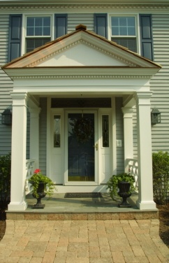 35 best images about square columns on pinterest columns for Portico entrance with columns