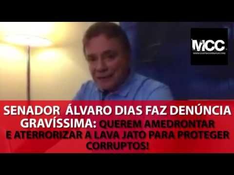 Senador Álvaro Dias faz grave denúncia: 'Querem amedrontar e aterrorizar...