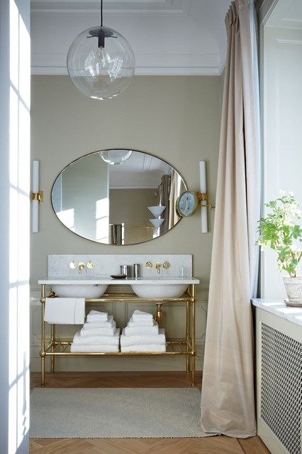 Discover bathroom design ideas on HOUSE - design, food and travel by House & Garden. Stockholm's Ett Hem Hotel offers a kind of modern glamour