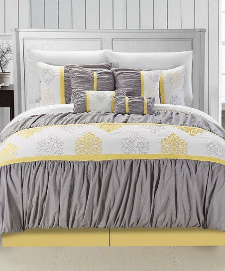 Yellow Precious Comforter Set Room Decorating Ideasguest