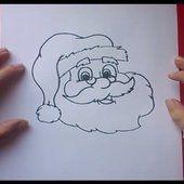 Como dibujar a papa noel paso a paso 3   How to draw Santa Claus 3