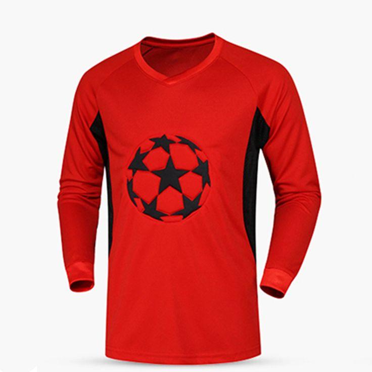 Survetement football 2017 soccer jerseys quick dry men goalkeeper jerseys padded soccer goalie training jersey soccer shirts XXL
