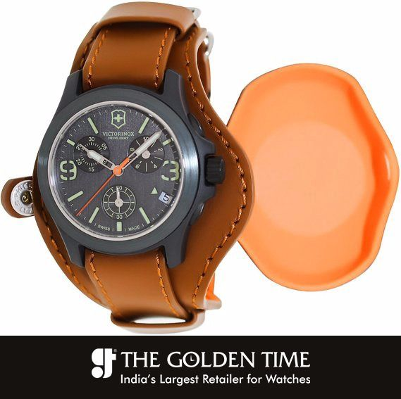 Victorinox Swiss Army Original Chronograph Limited Edition Watch Nylon Fiber case.. Leather strap.. Black dial.. Swiss quartz movement.. Chronograph.. Date.. Water resistant 100 m #latest #victorinox #thegoldentime #ahmedabad #vadodara #surat Visit website: www.thegoldentime.com For any query call on our helpline number : +91 9687366522