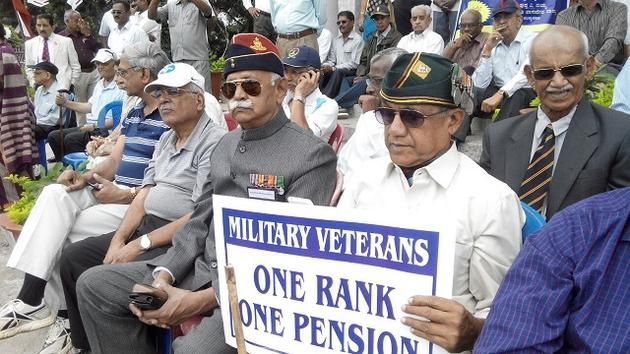 One Rank One Pension demand  on Kargil Vijay Diwas 2015