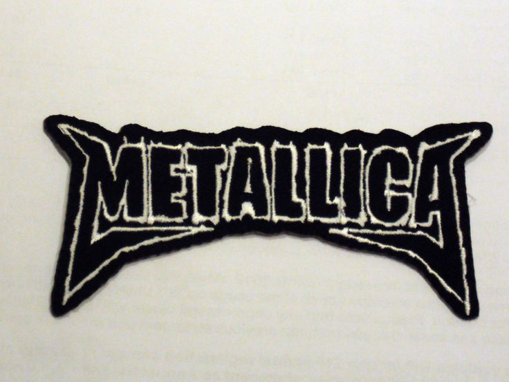 Rock Punk Metal Music Sew/Iron On Patch:- Metallica St Anger Black & White Block