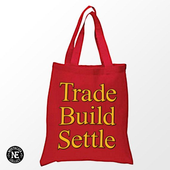 Trade Build Settle Tote Bag  Gold & Red Tote by Nostalgia Collect