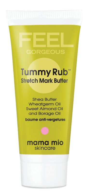 "Mama Mio's Tummy Rub Stretch Mark Butter - one mom says, ""I lathered this all over my body during my entire pregnancy..and I have no stretch marks!"" #beauty #pregnancy"