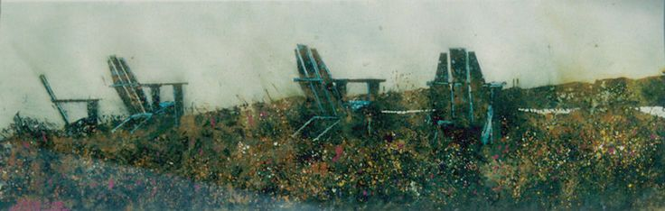 """the horizon 14 (fundy side) 10"""" x 30""""    micheal   zarowsky    watercolour on arches paper / private collection"""