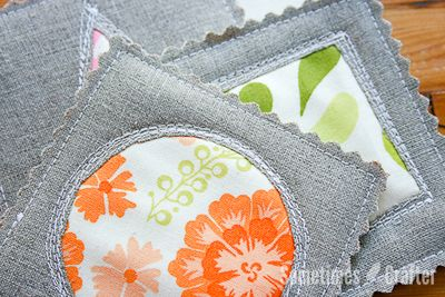 Reverse Applique Quilted Coasters