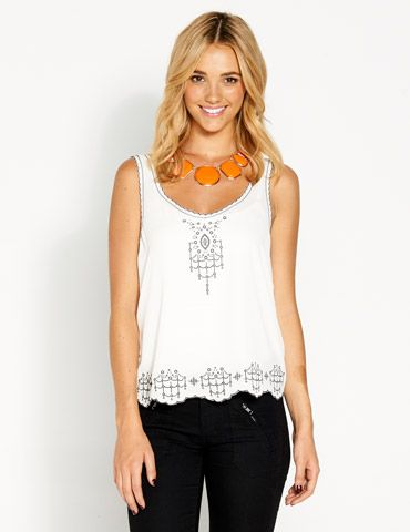 Image for Embroidered Tank from Dotti