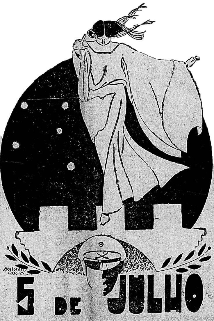 Faz um apanhado acerca da Revolta de 1922 e a homenagem feita em São Gonçalo, com a praça 5 de julho. Imagem publicada no jornal Ilustração: Diário Carioca.  Ano IV número 927. Cinco de julho de 1931