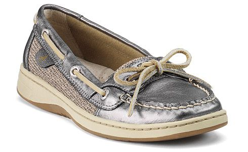 Pewter Metallic Sperry's: Fashion, Boats Shoes, Sperry Tops Sid, Women Angelfish, Slip On Boats, Tab Boats, Sperry Topsid, Angelfish Slipon, Angelfish Slip On