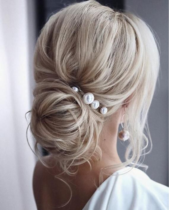 Extra Large Pearl Wedding hair pin Pearl Bridal hair pin Pearl hair pin Pearl Wedding hair accessories Pearl Bridal hair accessories