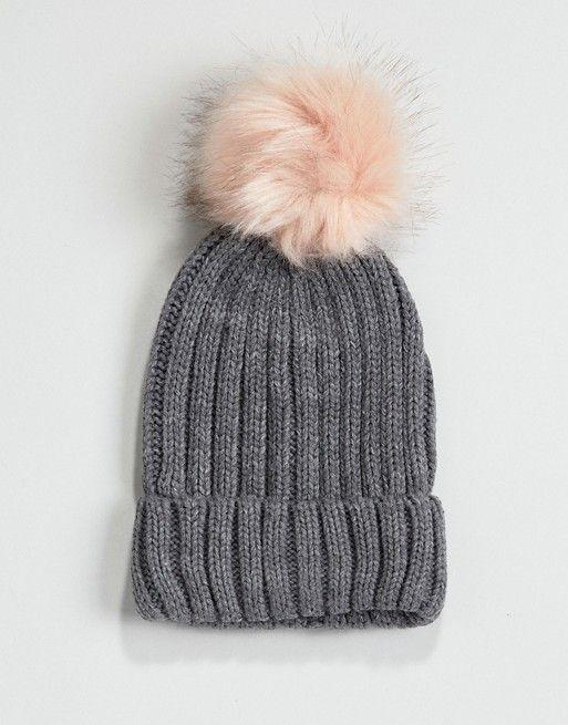 395d1a7a67587 Warehouse Faux Fur Pom Hat   Outfit   Fur pom pom, Pom pom hat, Hats