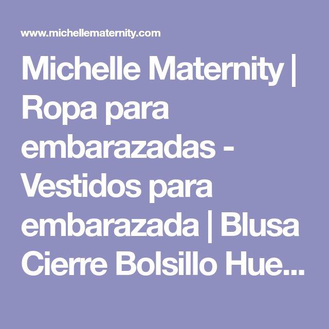 Michelle Maternity | Ropa para embarazadas - Vestidos para embarazada | Blusa Cierre Bolsillo Hueso