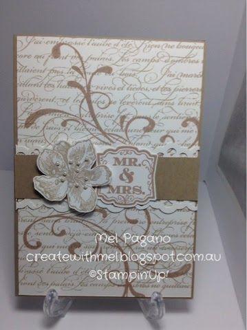 Wedding cards, Everything Eleanor and EnFrancais, Stampin Up - http://createwithmel.blogspot.com.au