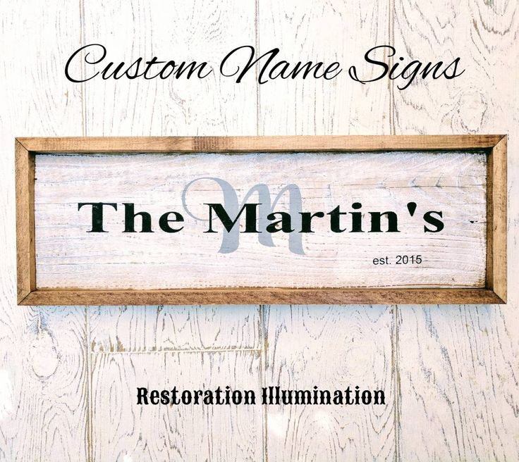 Wedding Gifts For Relatives: Family Name Signs