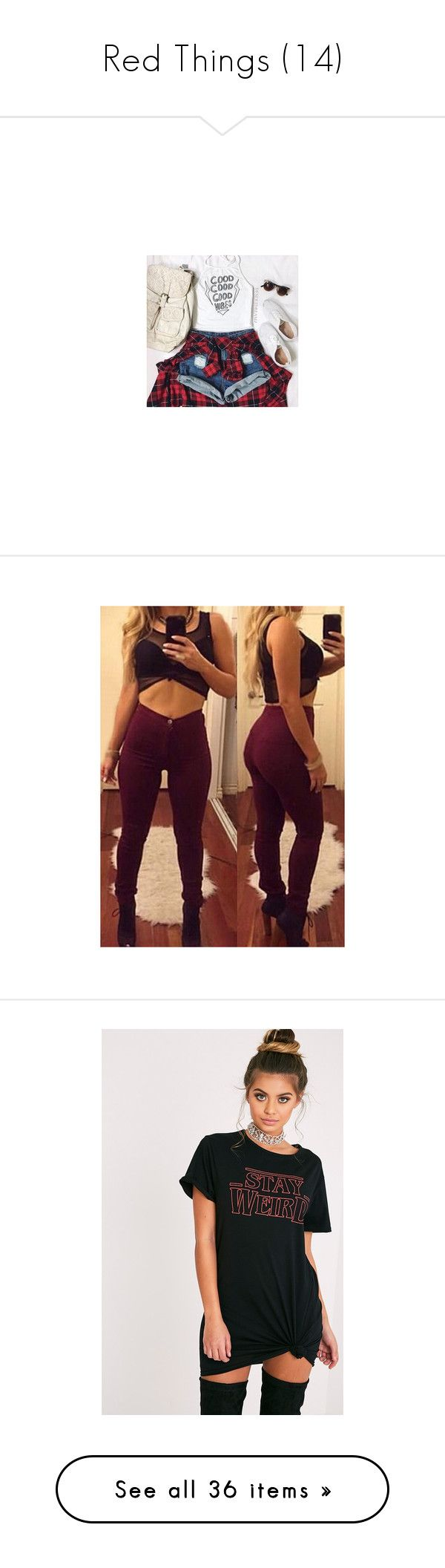 """""""Red Things (14)"""" by truekhaleesi ❤ liked on Polyvore featuring outfits, pants, wine red, high waisted skinny trousers, high-waist trousers, zip pants, zipper pants, skinny leg pants, dresses and black"""