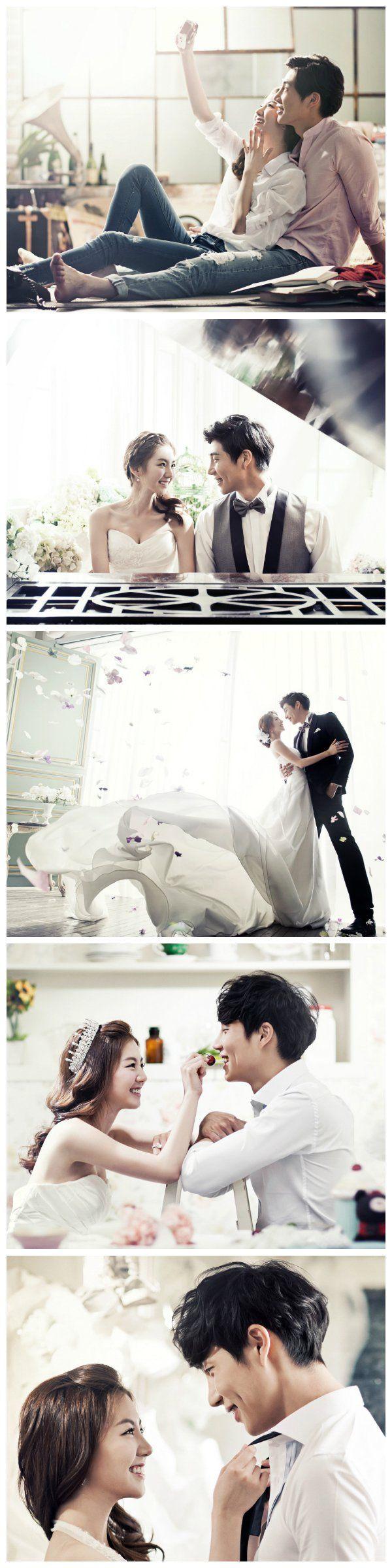 Korean pre-wedding photography in studio   May Studio on www.onethreeonefour.com