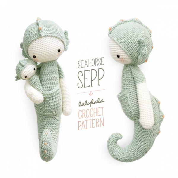 Sepp the seahorse amigurumi pattern by Lalylala Patterns ...