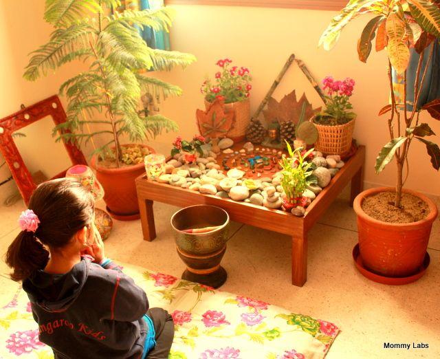 Nature table -nature spirituality creativity kids