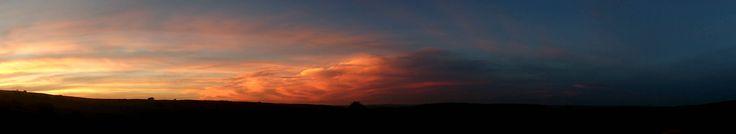 SuikerBoschFontein - Panorama; Amazing dusk lighting
