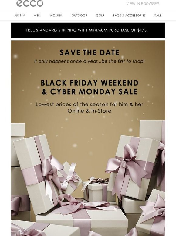 Save the Date: Black Friday & Cyber Monday Savings. - ECCO USA SHOES