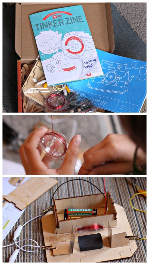 Monthly craft box with a STEM learning activity. Love this idea for a gift!