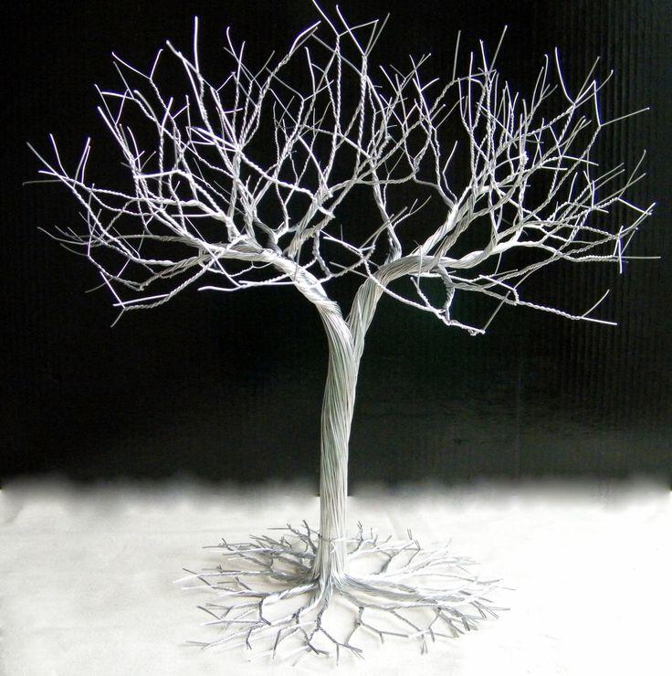 Super Dense Jewelry Tree Stand , wire tree , display bracelet,  earring organizer , silver wedding decor by KunsWerk on Etsy https://www.etsy.com/ca/listing/183404936/super-dense-jewelry-tree-stand-wire-tree