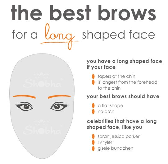 the best brows for a long shaped face