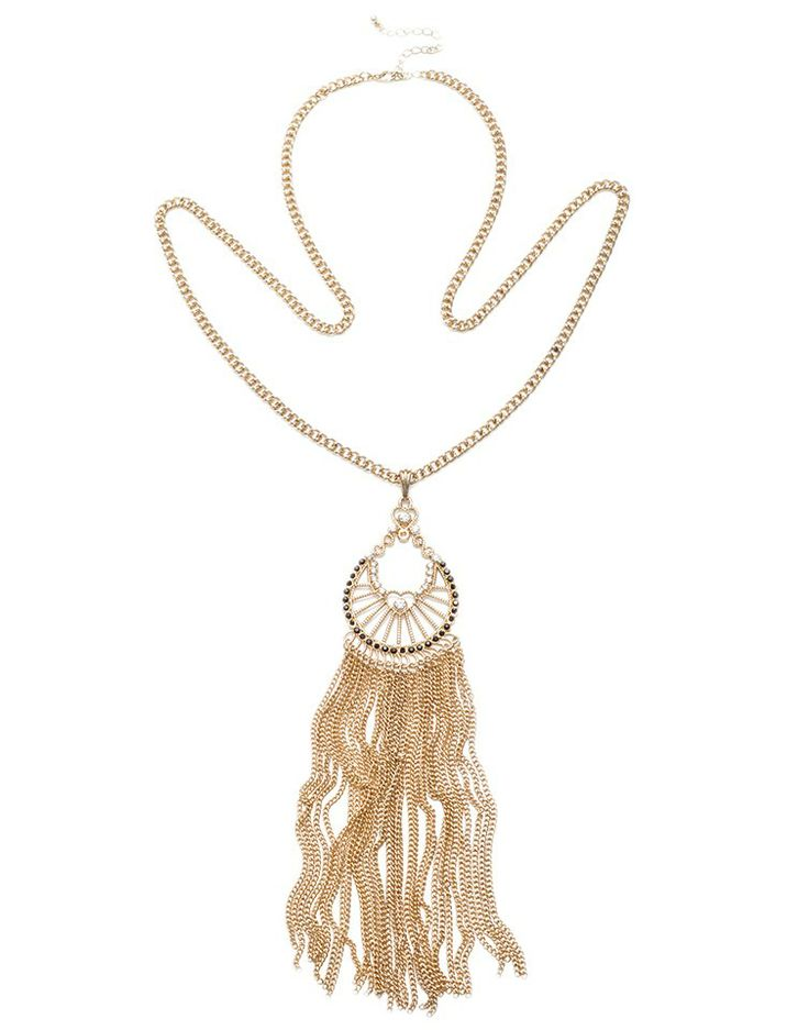 MAJIQUE   Chain Drop Necklace in Gold -  - Style36