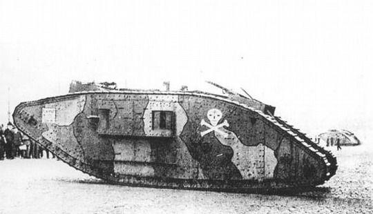 British tank captured by the germans