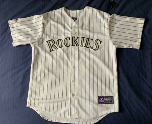 brand new 791b9 1ccd1 Details about Men's Majestic MLB Colorado Rockies jersey ...