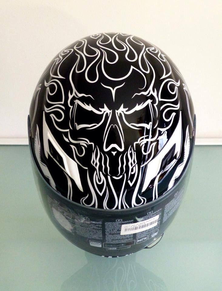 #Skull. Detalle #Casco parte superior.