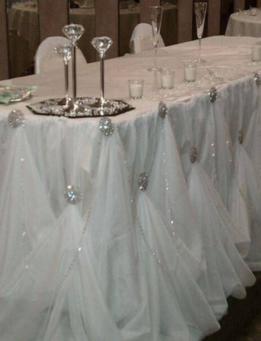 Bridal table - blinged out and budget friendly