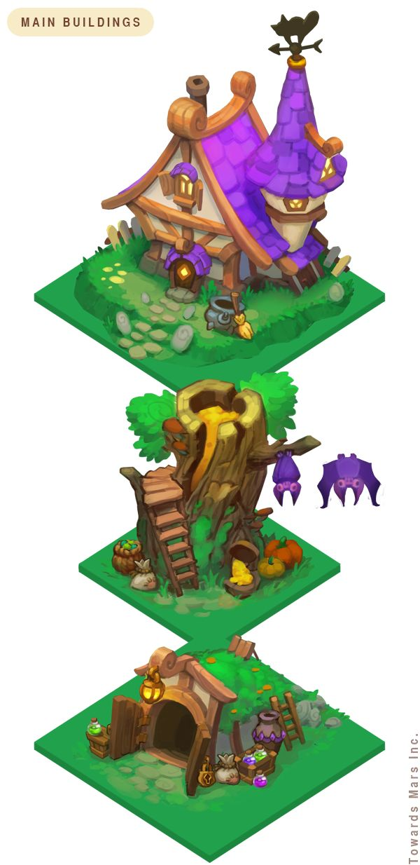 witchfarm project. houses concept art by skyside.deviantart.com on @DeviantArt