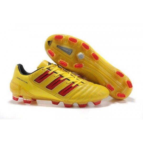 Adidas Predator 2012 XI TRX FG Soccer Cleats Yellow Red
