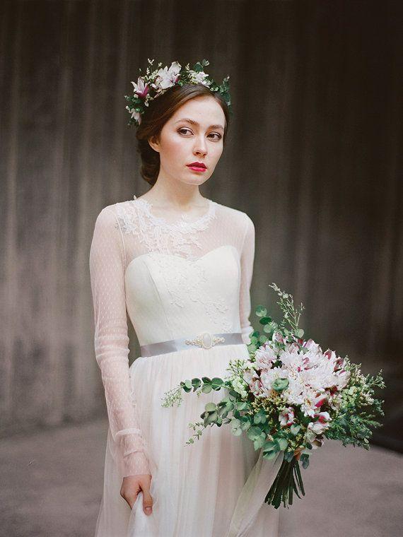 Agnia / / Langarm Hochzeitskleid/Brautkleid von Milamirabridal