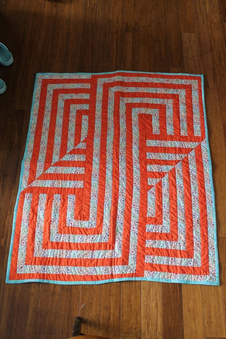 Fantastic quilt pattern and lovely execution by K. Ferris. Not linked to a web page :(