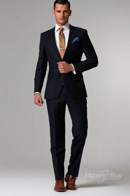 Stripes Men Suits2