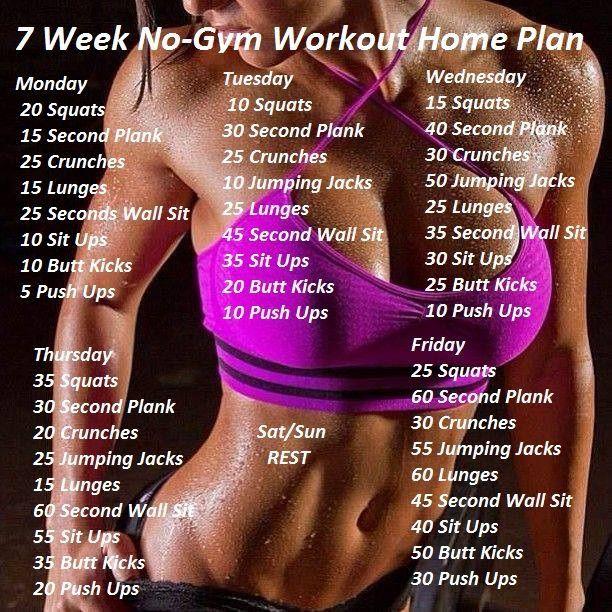 7 Week No-Gym workout