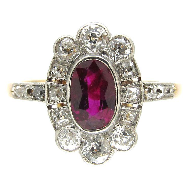 StyleRocks Solar Eclipse Pink Ruby White Gold Engagement Ring - 0.75ct hL3sZC