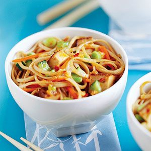 Udon Noodles with Tofu - ADORE udon noodles!  This would be a great lunch at room temp or even chilled :D