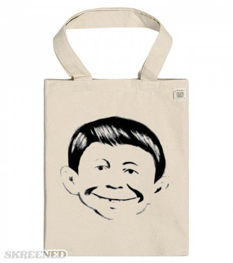 Eco tote bag B & W boy smiling