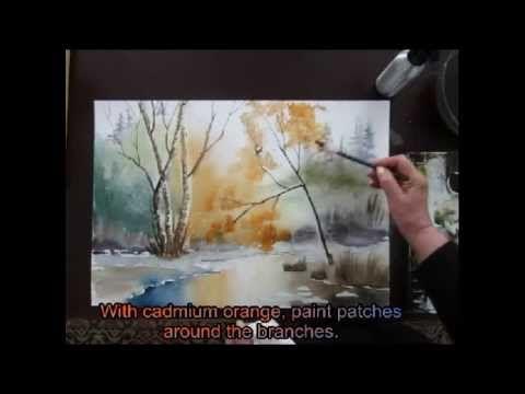"▶ water color tutorial ""a lovers hideway"" Part II - YouTube"