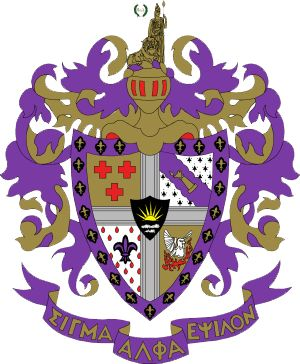 "FRATERNITY: Sigma Alpha Epsilon (ΣΑΕ) NICKNAME: SAE COLORS: Purple and Gold FOUNDED: 1856 LOCAL FOUNDING: 1945 BELIEFS: ""The mission of Sigma Alpha  Epsilon is to promote the highest standards  of friendship, scholarship and service for its  members based upon the ideals set forth by the  Founders and as specifically enunciated in its creed, the true gentleman."