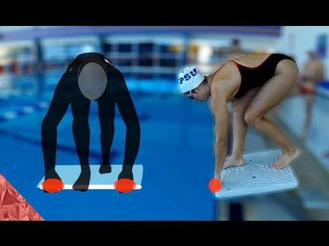 3 steps to learn a competitive start dive (Freestyle, Butterfly and Breastroke)  To do a competitive start there are three main things you need to practice:   1-Starting position 2-The push 3-The entry