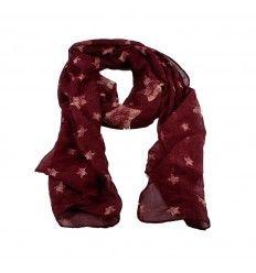 Flot tørklæde med stjerner - fåes i flere farver- 6000