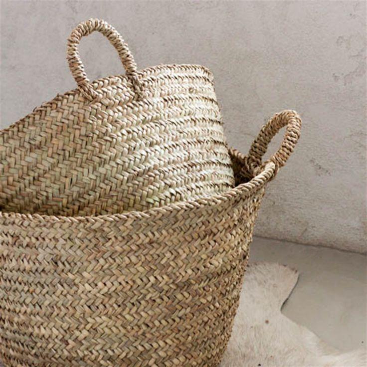 Hand Woven Moroccan Baskets #moroccan #baskets